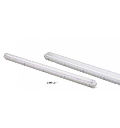 PANTALLA VODA SIMPLE 60 cms. Acabado BLANCO.(Potencia 1 x 9)