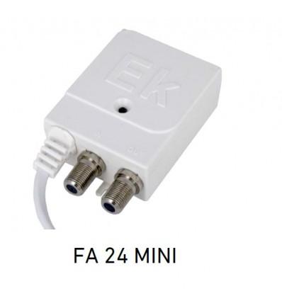 FA 24 MINI Fuente de alimentacion conmutada. Voltaje de salida: 24Vdc. Corriente maxima: 125 mA. 1 salida con conector F